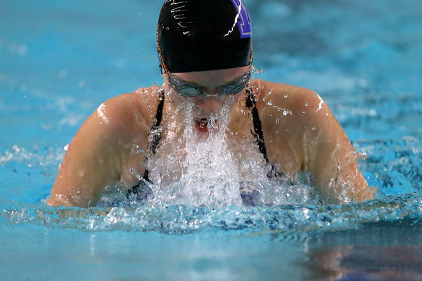 Northwestern's Ashley Ream swimming the 200 yard medley relay during the swim meet between Kokomo HS and Northwestern HS on Monday December 16, 2019. <br /> Tim Bath | Kokomo Tribune