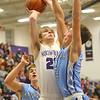 12-20-19<br /> Northwestern vs Maconaquah boys basketball<br /> NW's Braydyn Bishop puts up a shot.<br /> Kelly Lafferty Gerber | Kokomo Tribune