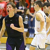 12-6-19<br /> Western vs Northwestern boys basketball<br /> NW's Nathan Bennett celebrates after Northwestern's win.<br /> Kelly Lafferty Gerber | Kokomo Tribune