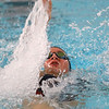 Kokomo's Paige Wilson swimming the 200 yard medley relay during the swim meet between Kokomo HS and Northwestern HS on Monday December 16, 2019. <br /> Tim Bath | Kokomo Tribune