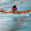 Kokomo's Paige Wilson swimming the 100 yard fly during the swim meet between Kokomo HS and Northwestern HS on Monday December 16, 2019. <br /> Tim Bath | Kokomo Tribune