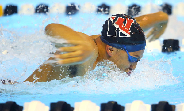12-3-19<br /> Western swimming<br /> Palmer Harrell swims the butterfly in the boys 200 IM.<br /> Kelly Lafferty Gerber | Kokomo Tribune