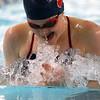 Kokomo's Emily Lucas swimming the100 breaststroke during the swim meet between Kokomo HS and Northwestern HS on Monday December 16, 2019. <br /> Tim Bath | Kokomo Tribune