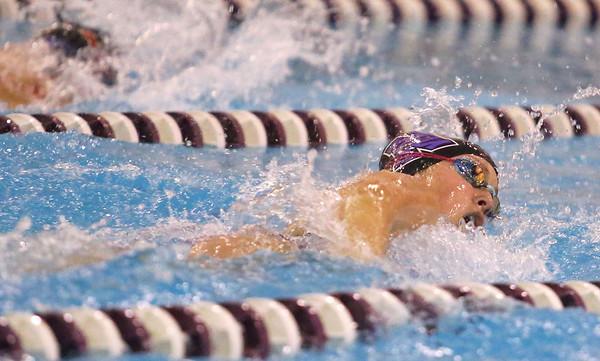 12-5-19<br /> Northwestern swimming<br /> NW's Kaylynne Fernandes in the girls 50 yard freestyle.<br /> Kelly Lafferty Gerber | Kokomo Tribune