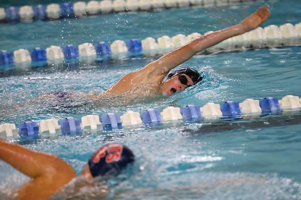 Northwestern's Caleb Champion swimming the 500 free during the swim meet between Kokomo HS and Northwestern HS on Monday December 16, 2019. <br /> Tim Bath | Kokomo Tribune