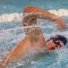 Kokomo's Logan Pitner swimming the 100 free during the swim meet between Kokomo HS and Northwestern HS on Monday December 16, 2019. <br /> Tim Bath   Kokomo Tribune