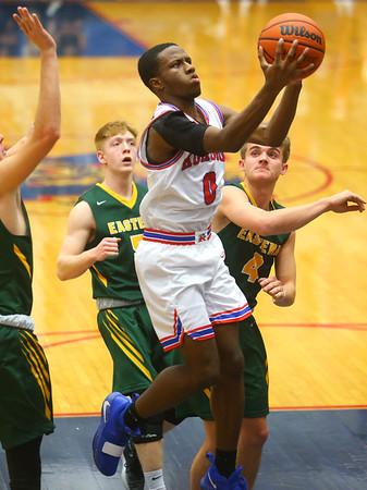 12-27-19<br /> Kokomo vs Eastern boys basketball in the Phil Cox Memorial Holiday Tournament<br /> Kokomo's Torian Smith shoots.<br /> Kelly Lafferty Gerber | Kokomo Tribune