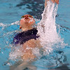 Northwestern's Catherine Bath swimming the100 backstroke during the swim meet between Kokomo HS and Northwestern HS on Monday December 16, 2019. <br /> Tim Bath | Kokomo Tribune