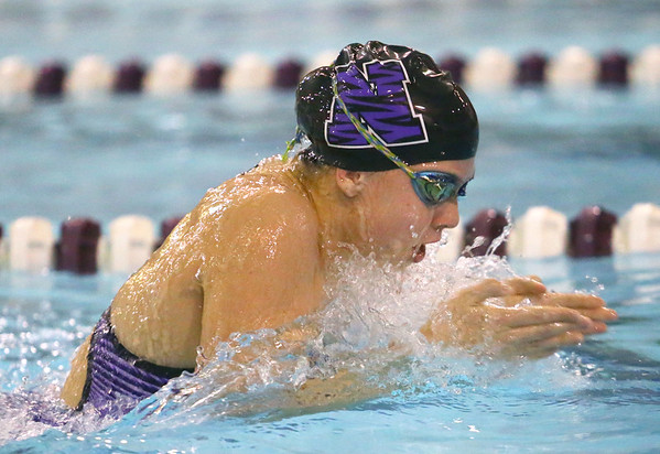 12-5-19<br /> Northwestern swimming<br /> Jaylyn Harrison swims the breastroke in the girls 200 yard medley relay.<br /> Kelly Lafferty Gerber   Kokomo Tribune