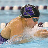 12-5-19<br /> Northwestern swimming<br /> Jaylyn Harrison swims the breastroke in the girls 200 yard medley relay.<br /> Kelly Lafferty Gerber | Kokomo Tribune