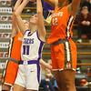 12-10-19<br /> Northwestern vs Hamilton Heights girls basketball<br /> McKenna Layden is fouled at the basket.<br /> Kelly Lafferty Gerber | Kokomo Tribune