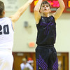 12-6-19<br /> Western vs Northwestern boys basketball<br /> NW's Nathan Bennett shoots.<br /> Kelly Lafferty Gerber | Kokomo Tribune