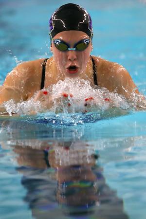 Northwestern's Jaylyn Harrison swimming the100 breaststroke during the swim meet between Kokomo HS and Northwestern HS on Monday December 16, 2019. <br /> Tim Bath | Kokomo Tribune