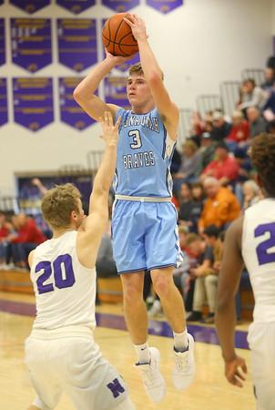 12-20-19<br /> Northwestern vs Maconaquah boys basketball<br /> Mac's Nolan Kelly shoots.<br /> Kelly Lafferty Gerber   Kokomo Tribune
