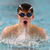 12-11-9<br /> Kokomo swimming<br /> Isaac Elkin in the boys 200 yard medley relay.<br /> Kelly Lafferty Gerber | Kokomo Tribune