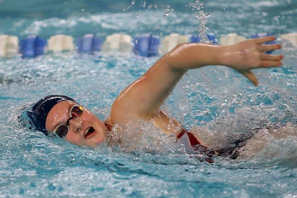 Kokomo's Macee Rickard swimming the 500 free during the swim meet between Kokomo HS and Northwestern HS on Monday December 16, 2019. <br /> Tim Bath | Kokomo Tribune