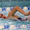 Northwestern's Catherine Bath swimming the 200 free relay during the swim meet between Kokomo HS and Northwestern HS on Monday December 16, 2019. <br /> Tim Bath | Kokomo Tribune
