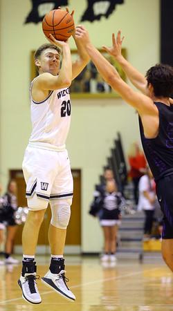 12-6-19<br /> Western vs Northwestern boys basketball<br /> Western's Kyle Sanders shoots.<br /> Kelly Lafferty Gerber   Kokomo Tribune