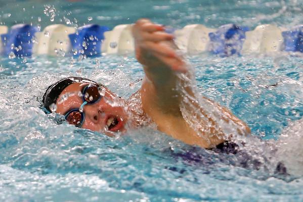 Northwestern's Jaylyn Harrison swimming the 200 free relay during the swim meet between Kokomo HS and Northwestern HS on Monday December 16, 2019. <br /> Tim Bath   Kokomo Tribune