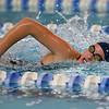 Kokomo's Paige Wilson swimming the 200 yard IM during the swim meet between Kokomo HS and Northwestern HS on Monday December 16, 2019. <br /> Tim Bath | Kokomo Tribune