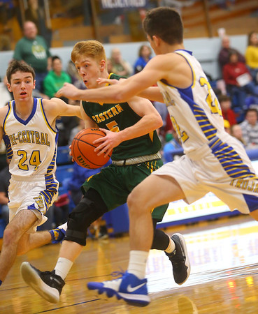 12-13-19<br /> Tri Central vs Eastern boys basketball<br /> <br /> Kelly Lafferty Gerber   Kokomo Tribune