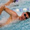 Kokomo's Cameron Bryant swimming the 50 yard free during the swim meet between Kokomo HS and Northwestern HS on Monday December 16, 2019. <br /> Tim Bath | Kokomo Tribune