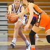 12-10-19<br /> Northwestern vs Hamilton Heights girls basketball<br /> Klair Merrell goes after a loose ball.<br /> Kelly Lafferty Gerber | Kokomo Tribune