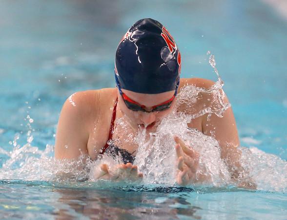 12-11-9<br /> Kokomo swimming<br /> Emily Lucas in the girls 200 yard medley relay.<br /> Kelly Lafferty Gerber   Kokomo Tribune