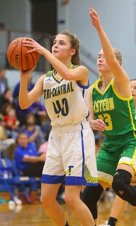 12-13-19<br /> Tri Central vs Eastern girls basketball<br /> TC's Meghan Grubb puts up a shot.<br /> Kelly Lafferty Gerber | Kokomo Tribune