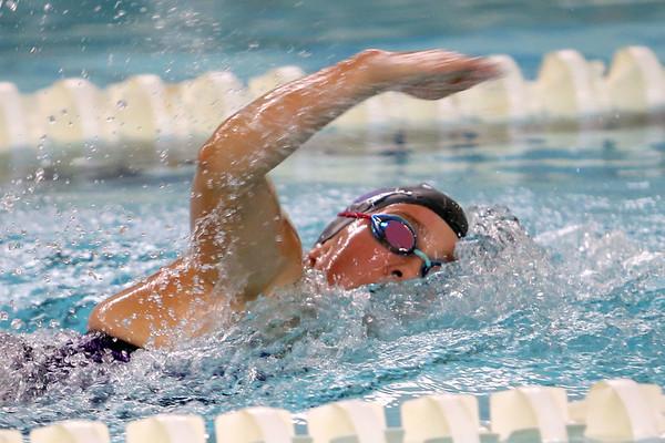 Northwestern's Kaylynne Fernandes swimming the 200 free relay during the swim meet between Kokomo HS and Northwestern HS on Monday December 16, 2019. <br /> Tim Bath | Kokomo Tribune