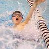 12-5-19<br /> Northwestern swimming<br /> Patrick Bath swims the backstroke in the boys 200 yard medley relay.<br /> Kelly Lafferty Gerber | Kokomo Tribune