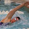 Northwestern's Jaylyn Harrison swimming the 200 free relay during the swim meet between Kokomo HS and Northwestern HS on Monday December 16, 2019. <br /> Tim Bath | Kokomo Tribune