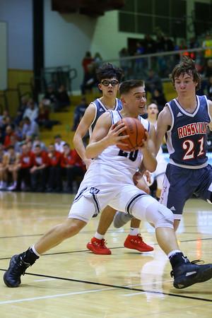 Kyle Sanders drives in for a shot during the Western HS vs Rossville boys basketball game on Dec. 14, 2019. <br /> Tim Bath | Kokomo Tribune