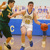 12-13-19<br /> Tri Central vs Eastern boys basketball<br /> TC's Mason Pickens dribbles down the court.<br /> Kelly Lafferty Gerber | Kokomo Tribune