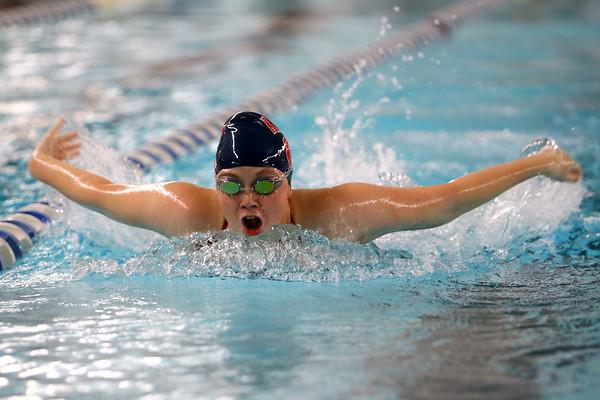 Kokomo's Kendra Cline swimming the 200 yard medley relay during the swim meet between Kokomo HS and Northwestern HS on Monday December 16, 2019. <br /> Tim Bath | Kokomo Tribune