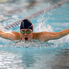 Kokomo's Kendra Cline swimming the 200 yard medley relay during the swim meet between Kokomo HS and Northwestern HS on Monday December 16, 2019. <br /> Tim Bath | Kokomo Tribune