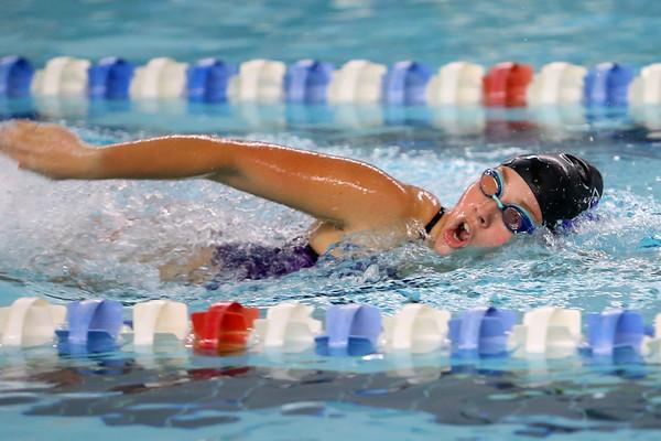 Northwestern's Kaylynne Fernandes swimming the 200 yard medley relay during the swim meet between Kokomo HS and Northwestern HS on Monday December 16, 2019. <br /> Tim Bath | Kokomo Tribune