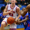 Jackson Richards being fouled in the 4th quarter during Saturday afternoon action between the Kokomo Wildcats and South Bend Adams Eagles on December 28, 2019.<br /> Tim Bath | Kokomo Tribune