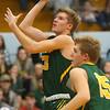 12-13-19<br /> Tri Central vs Eastern boys basketball<br /> Eastern's Evan Monize shoots.<br /> Kelly Lafferty Gerber | Kokomo Tribune