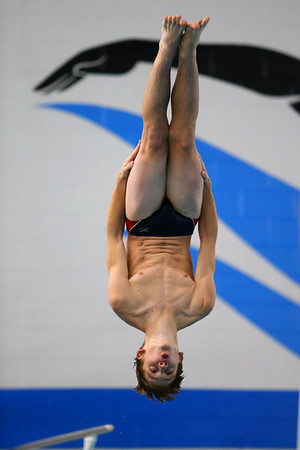 Kokomo's Ayden Groves diving during the swim meet between Kokomo HS and Northwestern HS on Monday December 16, 2019. <br /> Tim Bath | Kokomo Tribune