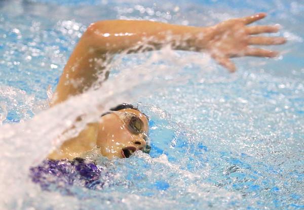 12-5-19<br /> Northwestern swimming<br /> Alexandra Rosales in the girls 200 freestyle.<br /> Kelly Lafferty Gerber | Kokomo Tribune