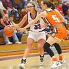 12-10-19<br /> Northwestern vs Hamilton Heights girls basketball<br /> Madison Layden takes the ball down the court.<br /> Kelly Lafferty Gerber | Kokomo Tribune