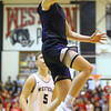 12-6-19<br /> Western vs Northwestern boys basketball<br /> NW's Nathan Bennett puts up a shot.<br /> Kelly Lafferty Gerber | Kokomo Tribune