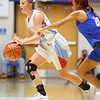 2-1-19<br /> Maconaquah vs Frankfort GBB<br /> Mac's Lilly Maple dribbles down the court.<br /> Kelly Lafferty Gerber | Kokomo Tribune