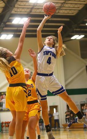 2-9-19 Tipton vs Monroe Central girls regional basketball semi-final Cassidy Crawford shoots. Kelly Lafferty Gerber | Kokomo Tribune