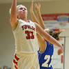 2-2-19<br /> Taylor vs Tipton girls sectional basketball<br /> Taylor's Taylor Boruff shoots.<br /> Kelly Lafferty Gerber | Kokomo Tribune