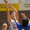 2-1-19<br /> Maconaquah vs Frankfort GBB<br /> Mac's Alex Merritt shoots.<br /> Kelly Lafferty Gerber | Kokomo Tribune