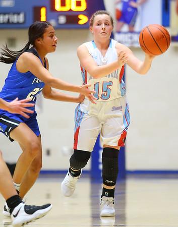 2-1-19<br /> Maconaquah vs Frankfort GBB<br /> Mac's McKenna Wilson looks for a pass.<br /> Kelly Lafferty Gerber | Kokomo Tribune