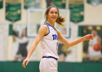 2-9-19 Tipton vs Monroe Central girls regional basketball semi-final Cassidy Crawford reacts after making a shot and getting fouled. Kelly Lafferty Gerber | Kokomo Tribune