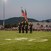 The Rockingham County Sheriffs Office Colorguard presents the American Flag for the National Anthem